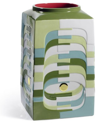 Estratos - Medium Vase (green) Lladro Figurine
