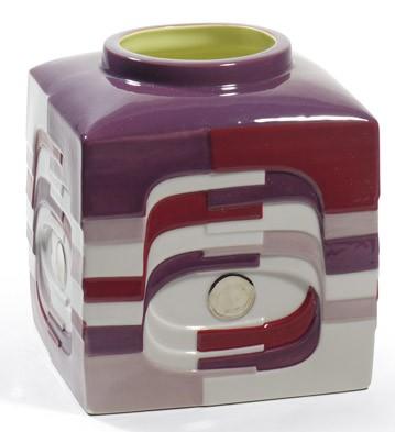 Estratos - Small Vase (burgundy) Lladro Figurine