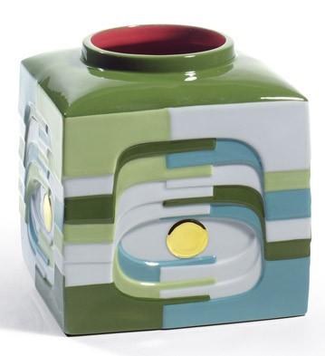 Estratos - Small Vase (green) Lladro Figurine