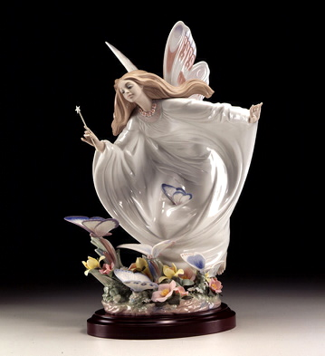 Fairy Of The Butterflies Lladro Figurine