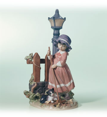 Fall Clean-up Lladro Figurine