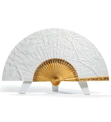 Fall Fan Lladro Figurine