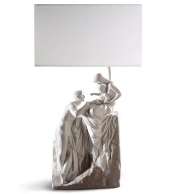Family Lamp (us) Lladro Figurine
