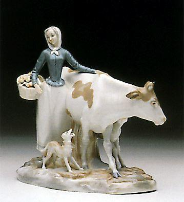 Farmer With Cow Lladro Figurine