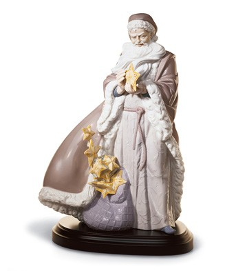 Father Christmas-the Spirit Of The Stars Lladro Figurine