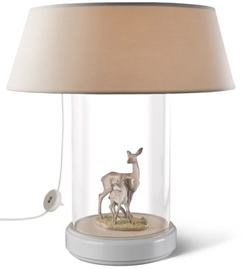 Fawn In The Forest - Lamp (us) Lladro Figurine