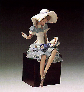 Feeding The Doll (b) Lladro Figurine