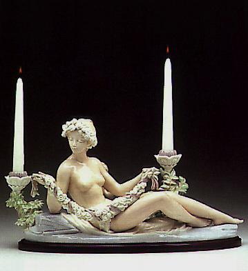 Female Candleholder (b) Lladro Figurine