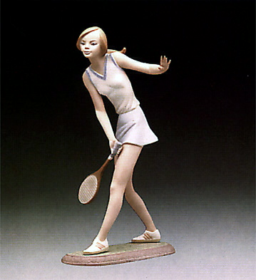 Female Tennis Player Lladro Figurine