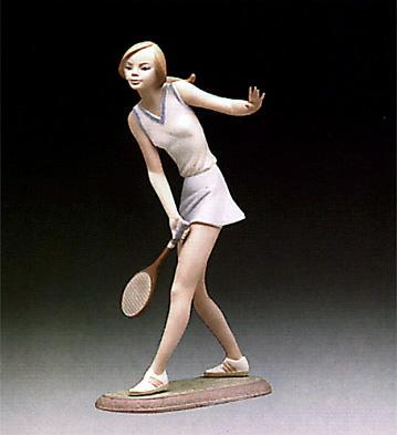 Female Tennis Player Lladro Figurine