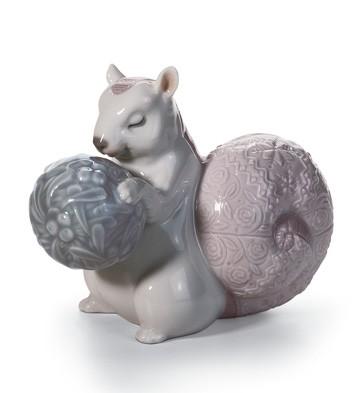 Festive Squirrel Ii Lladro Figurine