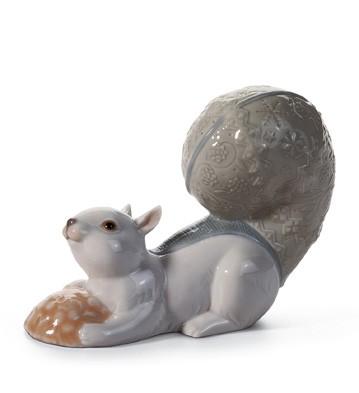 Festive Squirrel Iii Lladro Figurine