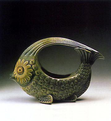 Fish Centerpiece (green) Lladro Figurine