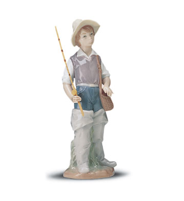 Fisher Boy Lladro Figurine
