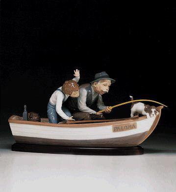 Fishing With Gramps (b) Lladro Figurine