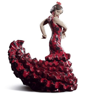Flamenco Flair (red) Lladro Figurine