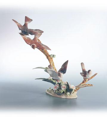 Flock Of Birds Lladro Figurine