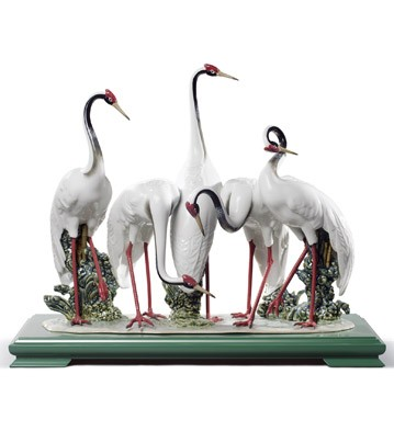 Flock Of Cranes Lladro Figurine