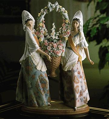 Floral Offering Lladro Figurine