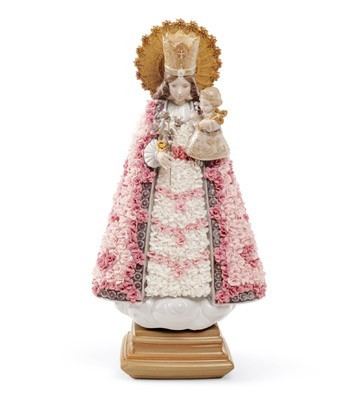 Flower Offering In Valencia Lladro Figurine