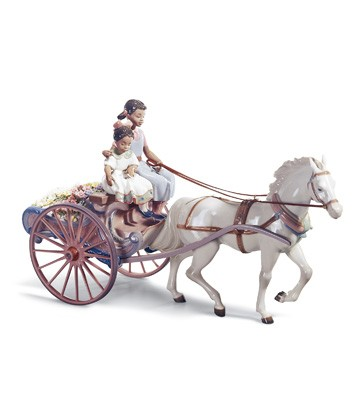 Flower Wagon Lladro Figurine