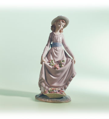 Flowers In The Basket Lladro Figurine