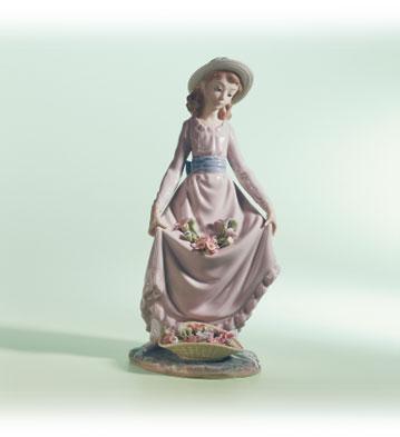 Flowers In The Basket Lladro Figurine