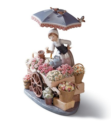 Flowers Of The Season Lladro Figurine