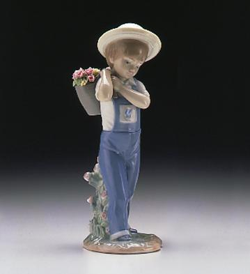 Flowers On The Back Lladro Figurine