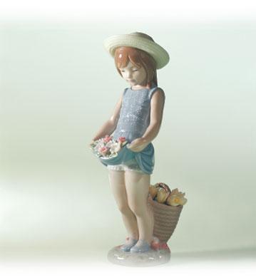 Flowers On The Lap Lladro Figurine