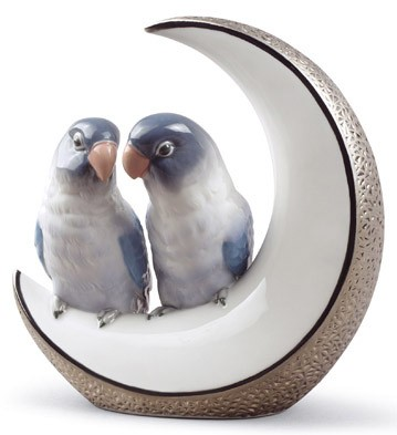 Fly Me To The Moon (silver Anniversary) Lladro Figurine