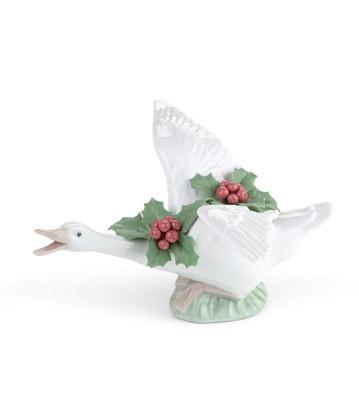 Flying Duck With Mistletoe Lladro Figurine