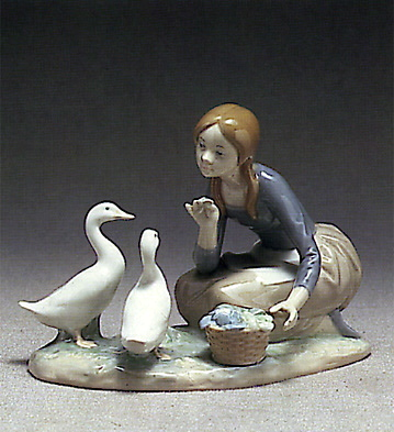 Food For Ducks Lladro Figurine