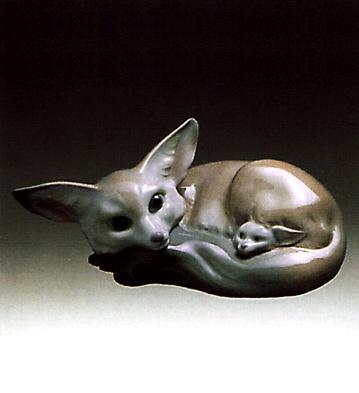 Fox & Cub Lladro Figurine