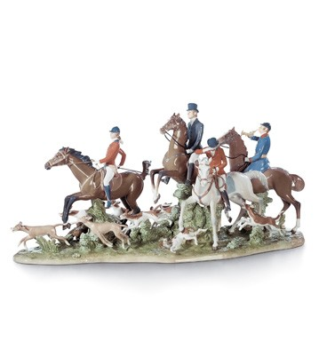 Fox Hunt Lladro Figurine