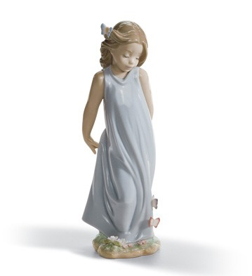 Friend Of The Butterflies Lladro Figurine