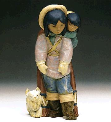 Frosty Outing Lladro Figurine