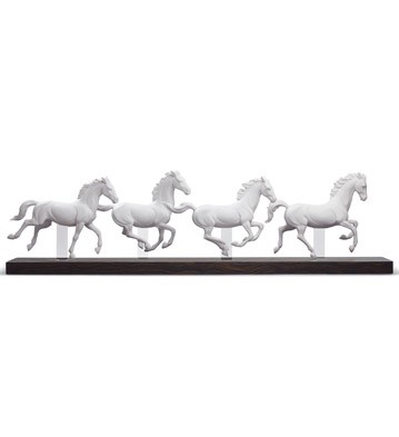 Galloping Herd Lladro Figurine