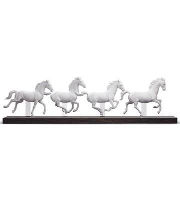Galloping Herd Lladro Figurine