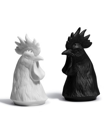 Gallus Salt And Pepper Shakers Lladro Figurine