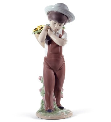 Gathering Flowers (60th Anniversary) Lladro Figurine