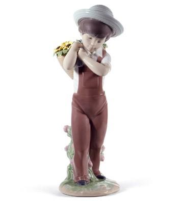 Gathering Flowers (60th Anniversary) Lladro Figurine