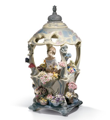 Gazebo In Bloom Lladro Figurine