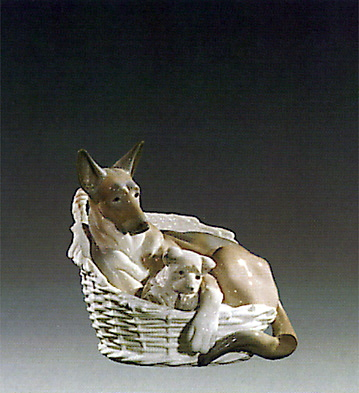 German Shepherd Lladro Figurine