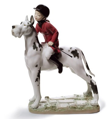 Giddy Up Doggy Lladro Figurine