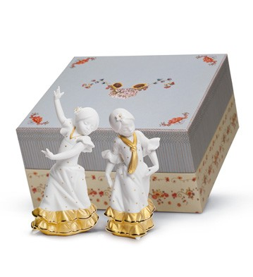 Gift Box Spring Fair In Sevilla Golden Lladro Figurine