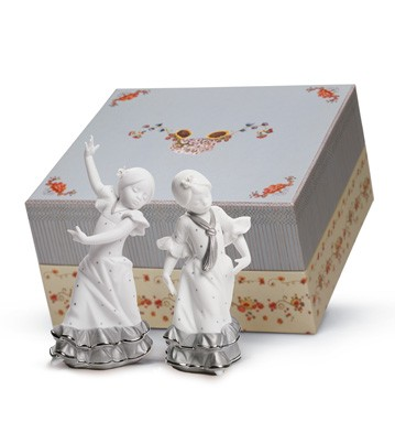 Gift Box Spring Fair In Sevilla Platinum Lladro Figurine