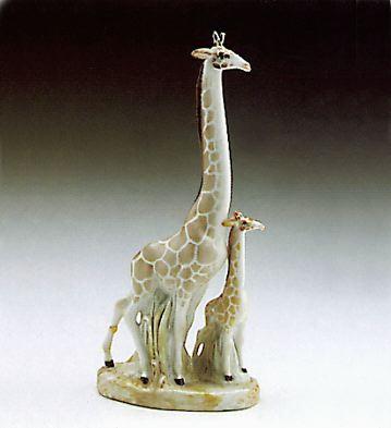 Giraffe With Baby Lladro Figurine