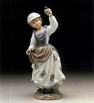 Girl And Sparrow Lladro Figurine