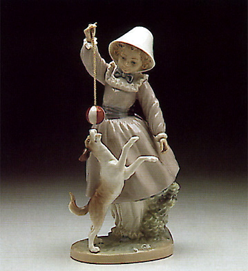 Girl, Dog And Ball Lladro Figurine